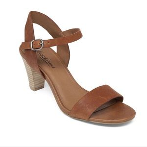 Lucky Brand > Pepper Leather Brown Heel Sandals
